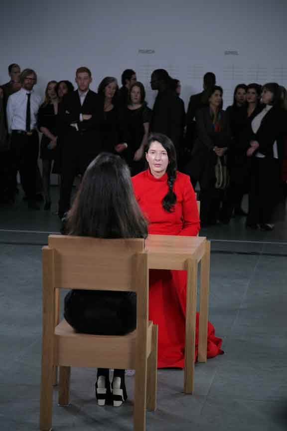 Artpulse magazine reviews marina abramovi the artist is present installation view of marina abramovis performance the artist is present at the museum altavistaventures Image collections