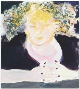 "Marlene Dumas, The Sleep of Reason, 2009, oil on linen, 39 3/8"" x 35 ½"" x 1."" Courtesy the artist and David Zwirner, New York"