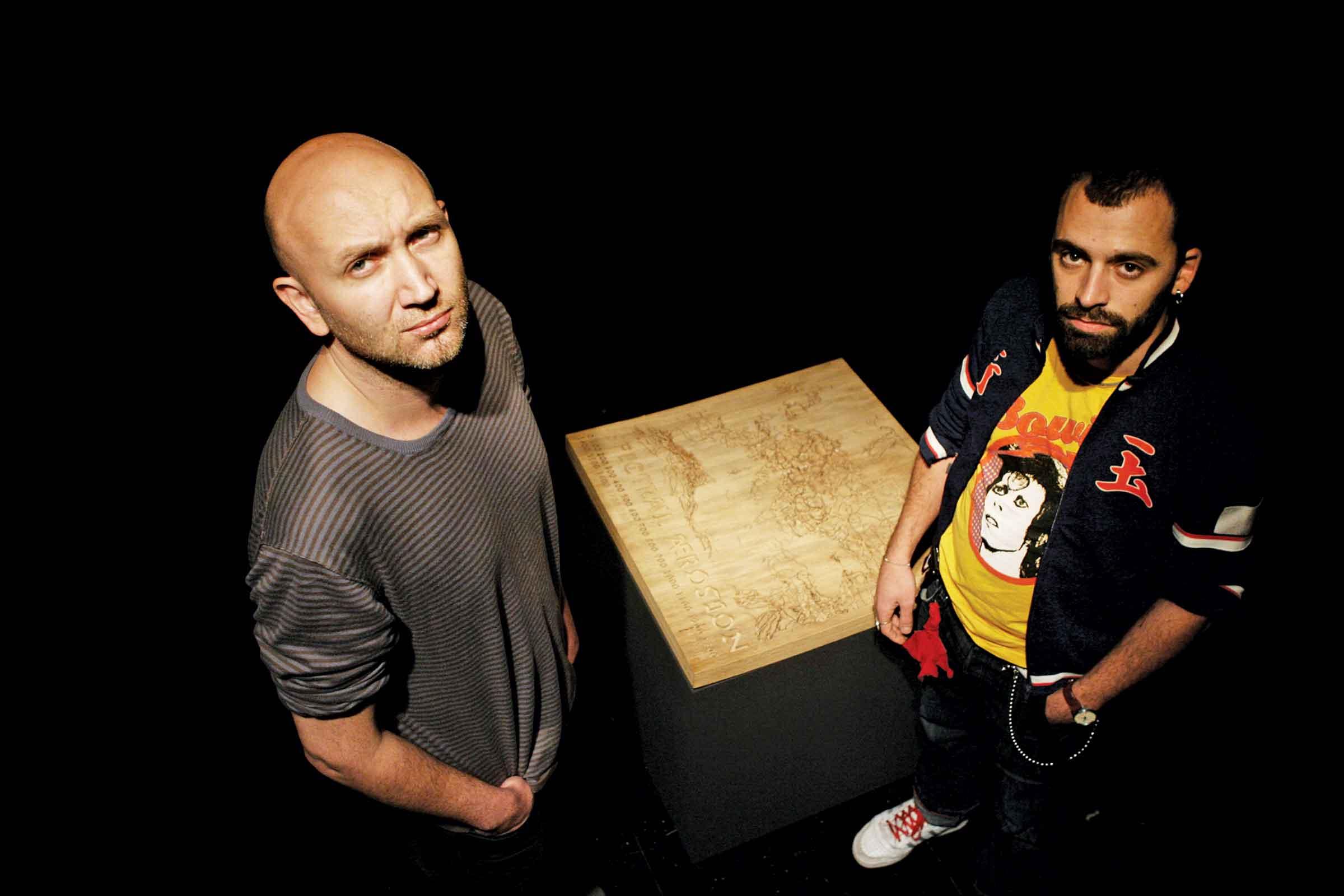 Société Réaliste: Ferenc Gróf and Jean-Baptiste Naudy. Photo: Uros Hocevar, 2010.