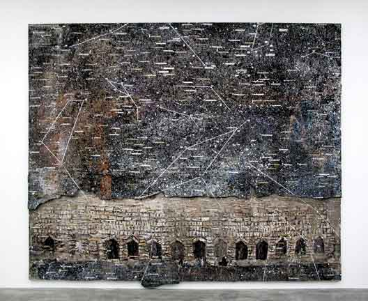 Anselm Kiefer, Die 7 Himmelspalaste, 2005, mixed media on canvas.