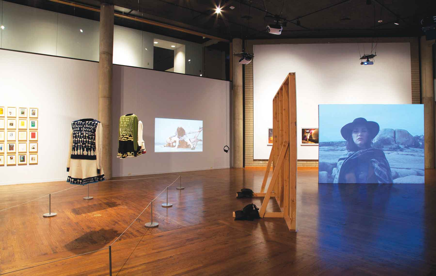 """Doublespeak."" Installation view at Salt Lake Art Center, Utah. November 2011."