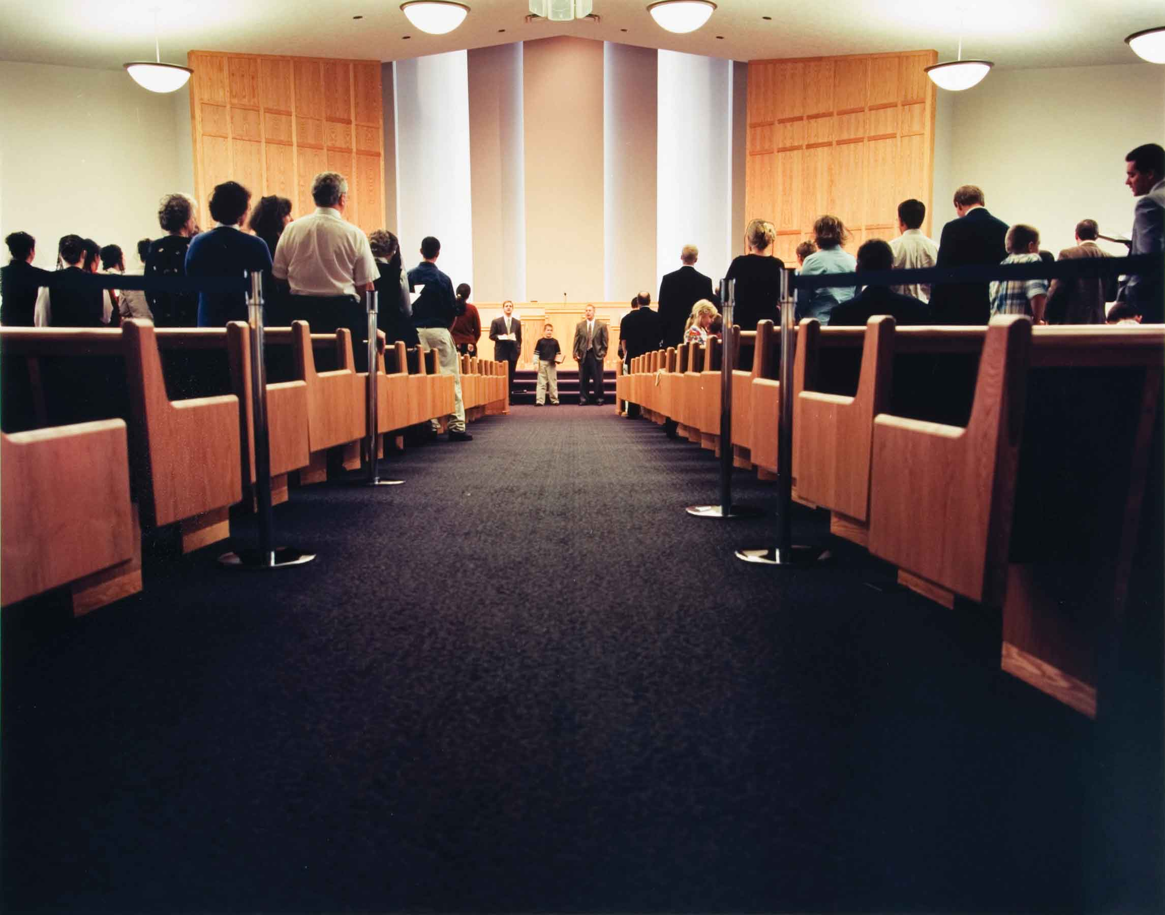 "Angela Strassheim, Untitled (Congregation), 2002, C-print , 11""x14"""
