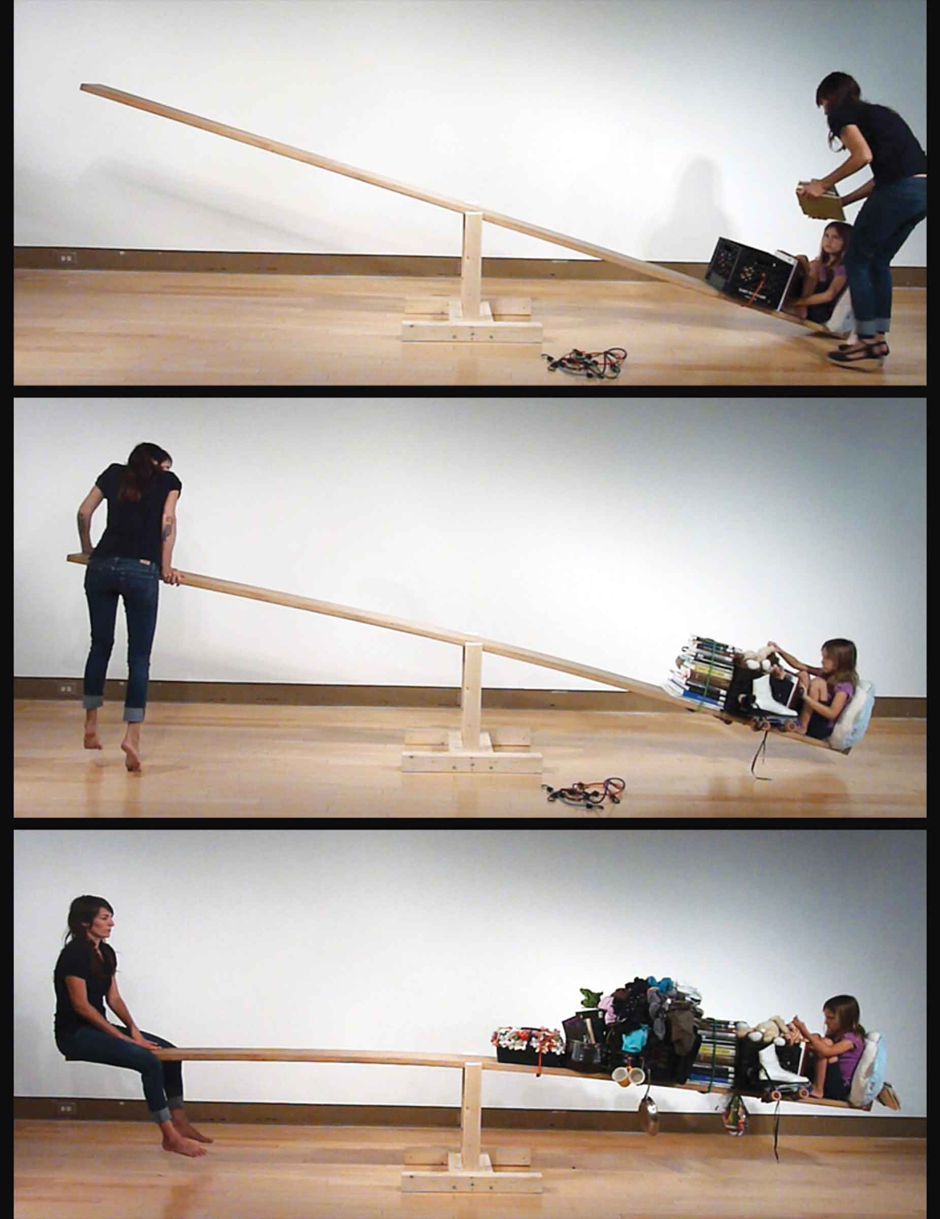 Courtney Kessel, In Balance With, 2012, 30-minute performance. Courtesy of the artist.