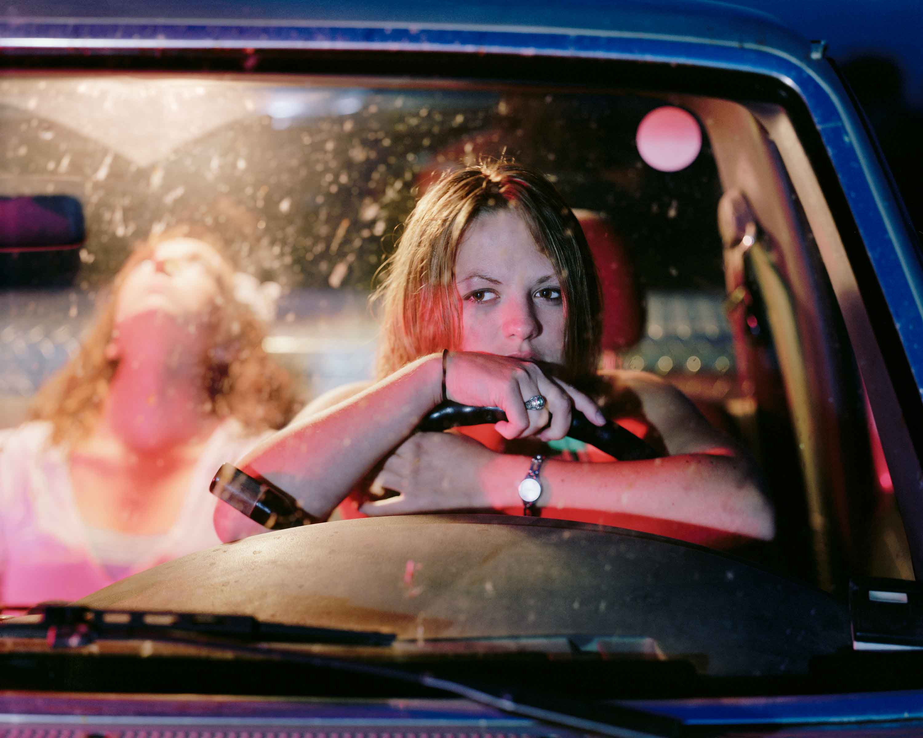 "Angela Strassheim, Untitled (Girls in Pick Up), 2006, archival pigment print, 30"" x 40"", (from the Pause series)"