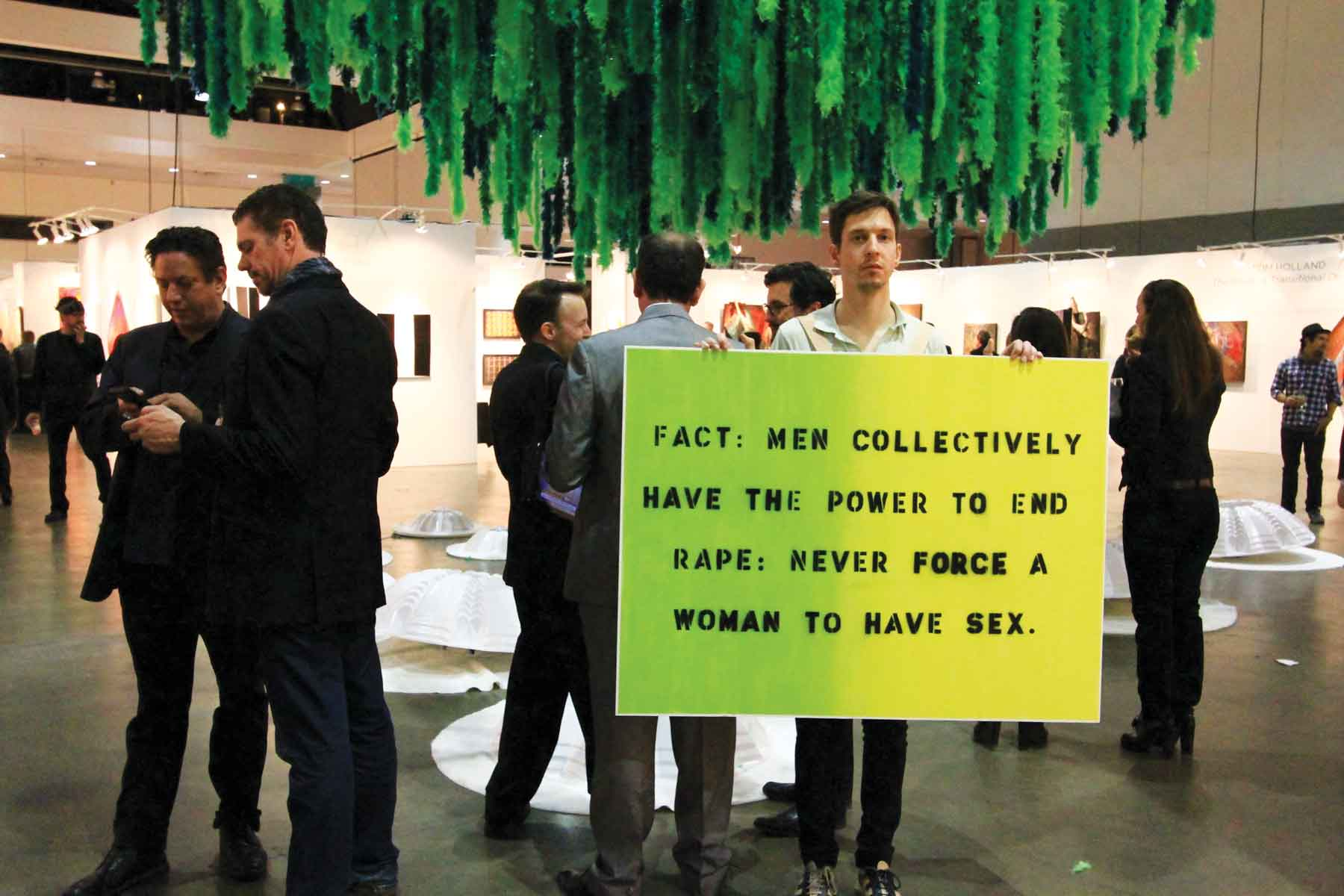 Myths of Rape, 2012, performance by Audrey Chan and Elana Mann, a reinterpretation of Leslie Labowitz-Starus' Myths of Rape (1977), part of Suzanne Lacy's Three Weeks in May (1977). This production was presented by Los Angeles Contemporary Exhibitions (LACE) for Three Weeks in January (2012) as part of the Getty Pacific Standard Time Performance Festival. Photos Neda Moridpour.