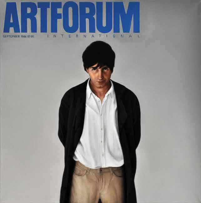 "Kepa Garraza, Artforum, 1986, 2012, oil on canvas, 13"" x 13"". Courtesy of the artist."