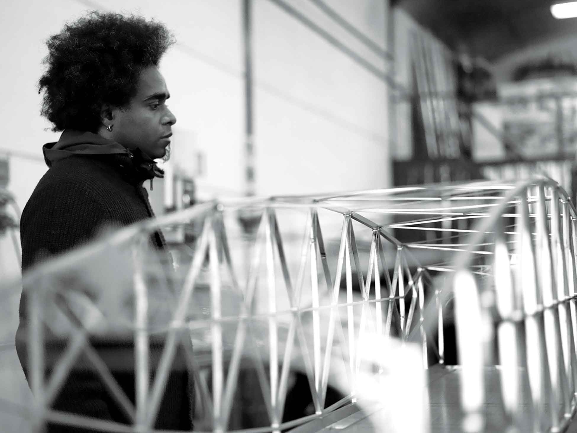 Alexandre Arrechea in his studio. Photo: Rafael García Sánchez.All images are courtesy of the artist and Magnan Metz Gallery.