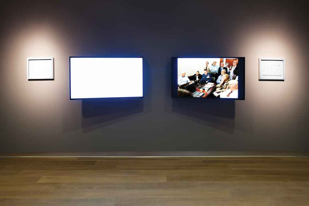 Alfredo Jaar, May 1, 2011, mixed media installation at SCAD Museum of Art, 2011. Photo: John McKinnon. Courtesy of SCAD Museum of Art and the artist.  