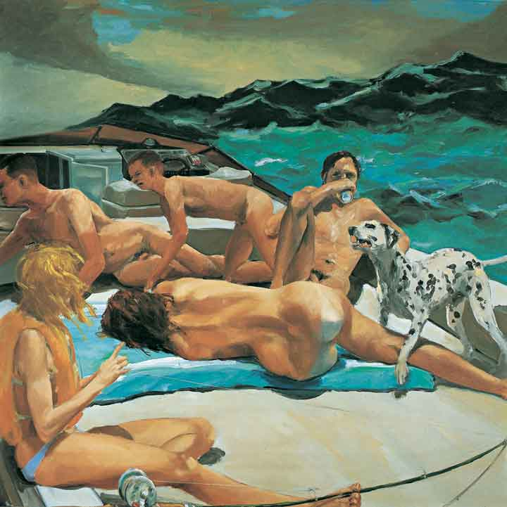 "Eric Fischl, The Old Man's Boat and the Old Man's Dog, 1981, oil on canvas, 84 x 84."" Courtesy of the artist."
