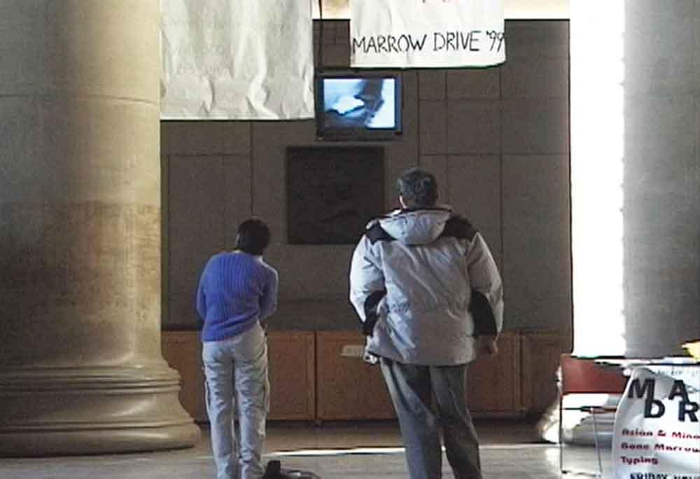 Jill Magid, Lobby 7, 1999, performance and documentation video, 7min.