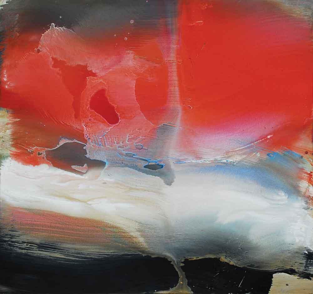 "Edward Clark, Louisiana Red, 2004, acrylic on canvas, 67"" x 72"""