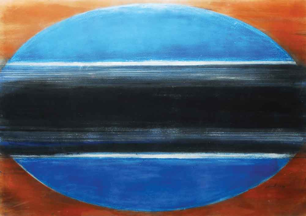 """Moroccan Series, 1970, dry pigment on paper, 36"""" x 46"""""""