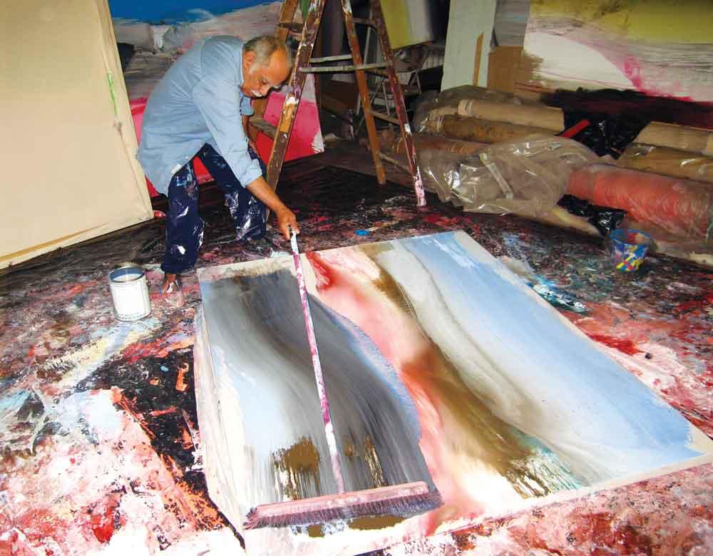 Edward Clark in his studio. Photo: An Liping.