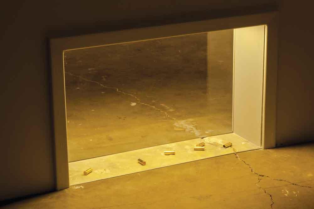 Failed States. Installation view at Honor Fraser, LA. 2012. Six Empty Shells, 2011 Wall installation 20 »x 30 ». Photo: Joshua White.