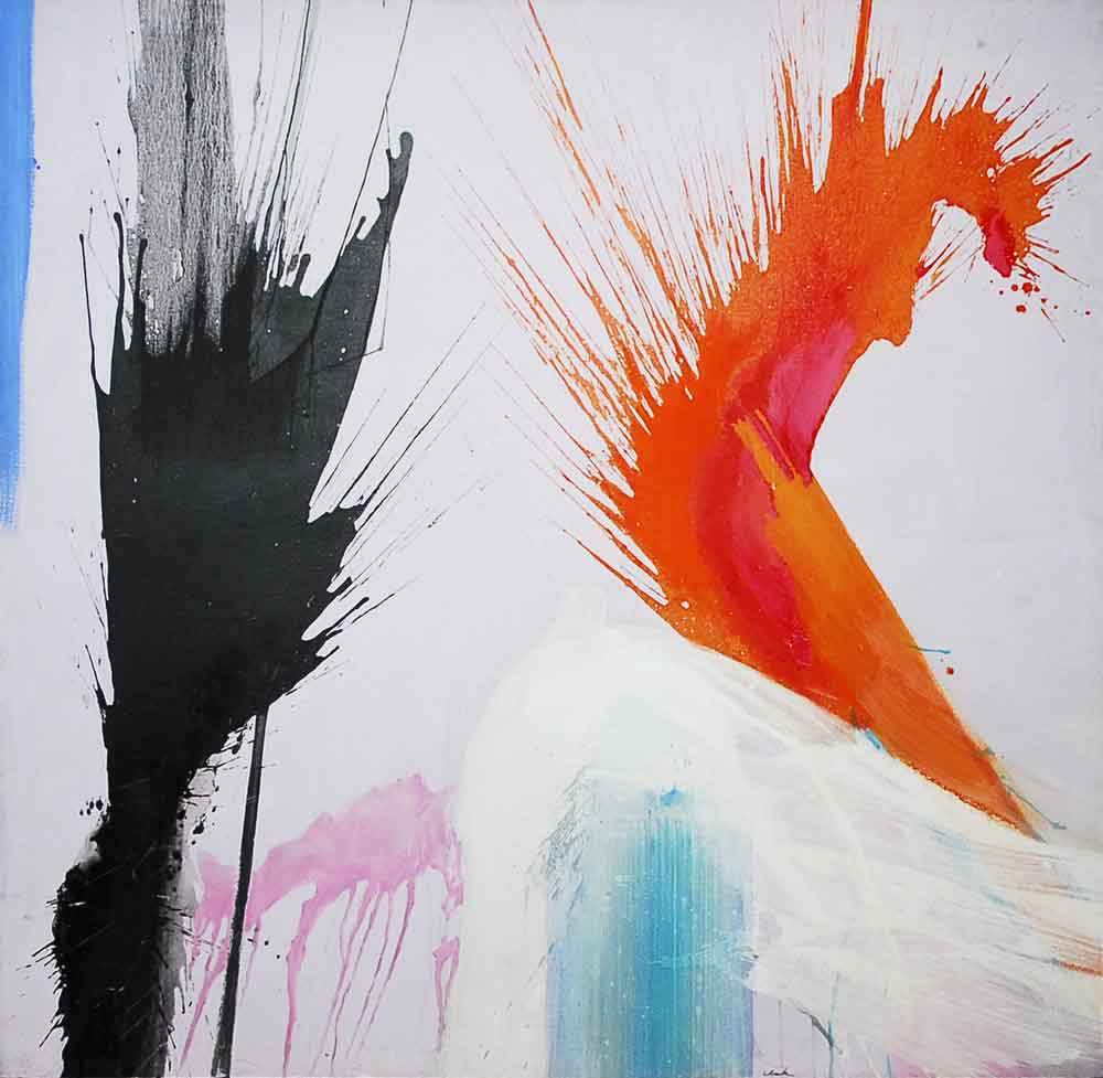 "Ed Clark, Pink Maple, 1962, oil on canvas, 72"" x 76"""