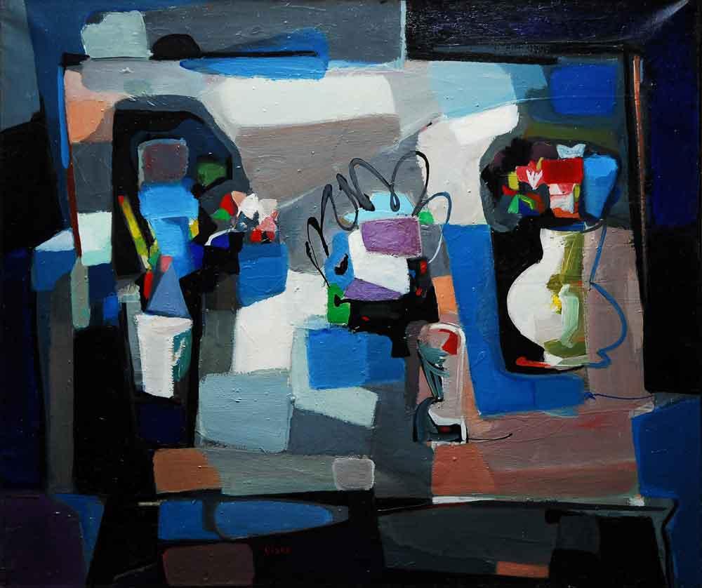 """Untitled, Paris, 1952, oil on canvas, 31"""" x 25."""""""