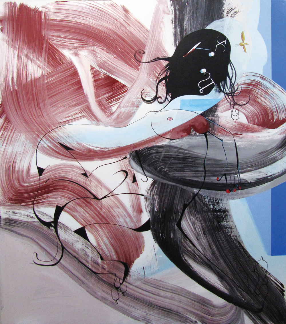 "David Humphrey, Chimera, 2012, acrylic on canvas, 84"" x 72."""