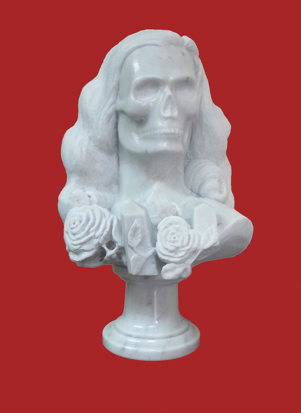 "José A. Toirac and Meira Marrero, Vanitas vanitatum, 2013, marble sculpture, 17.50"" x 13"" x 10."" All images are courtesy of Pan American Art Projects."