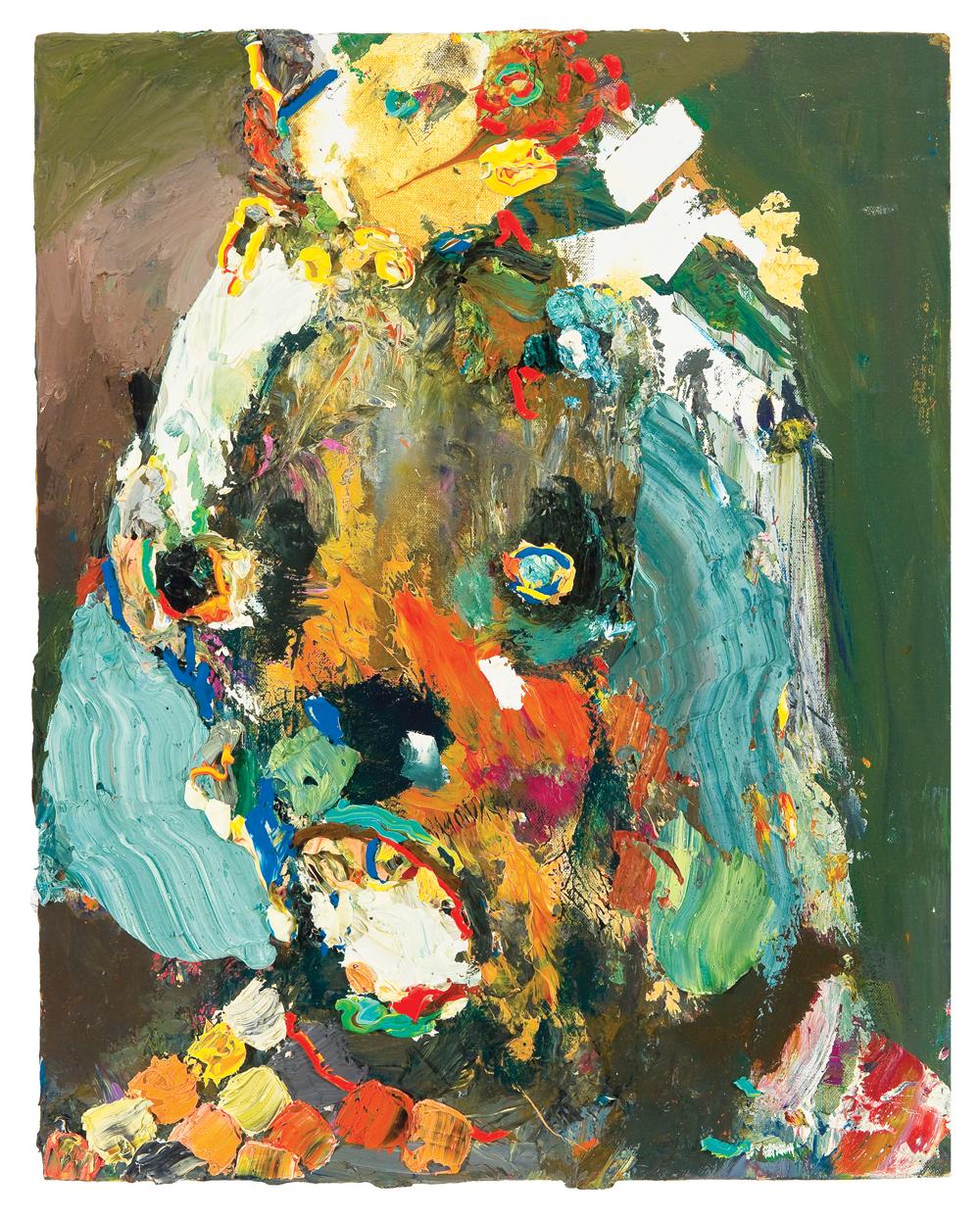 """Summer Wheat, Moldy Brain Eater, 2010, acrylic and oil on canvas, 16"""" x 20."""""""