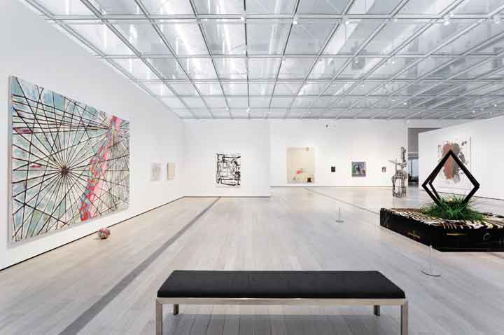 "Installation view. ""Variations: Conversations in and around Abstract Painting,"" (August 24, 2014 – March 22, 2015). Los Angeles County Museum of Art. Photo © 2014 Museum Associates/LACMA."
