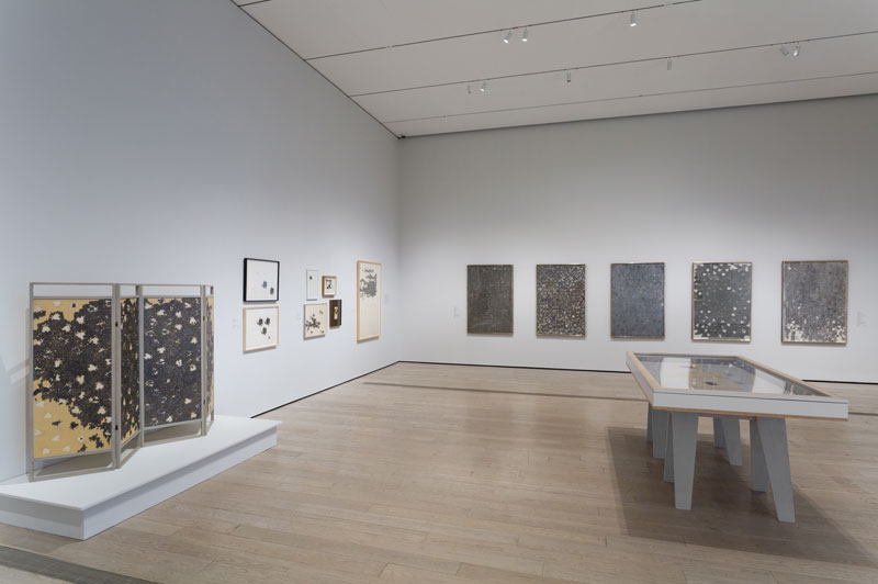 "Installation photo of the exhibition ""Ed Moses: Drawings from the 1960s and 70s"" at the Los Angeles County Museum of Art (LACMA), May 10 – August 2, 1-15. © 2015 Ed Moses. Photo © Museum Associates/LACMA."