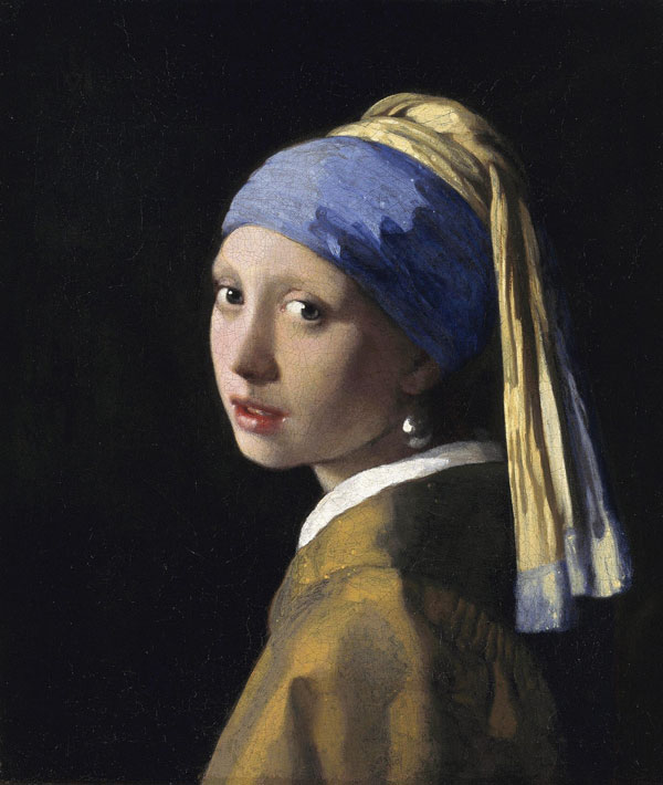 """Johannes Vermeer (1632-1675), The Girl with a Pearl Earring, circa 1665, oil on canvas, 18.3"""" x 15.7."""" Royal Picture Gallery Mauritshuis. Photo: www.geheugenvannederland.nl. Courtesy https://commons.wikimedia.org."""