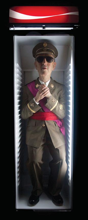 "Eugenio Merino, Always Franco, 2012, sculpture and fridge, 78.7"" x 23.6"" x 23.6."" Courtesy of Unix Gallery, New York."