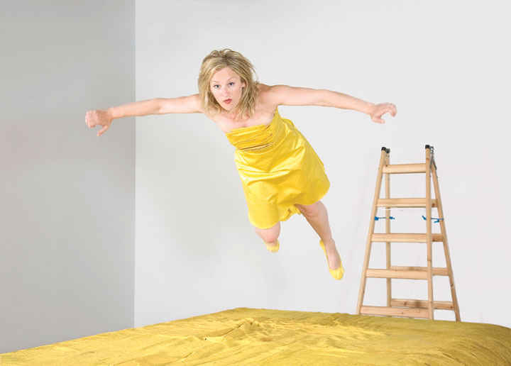 Amanda Coogan, The Fall, 2009, photographic still from live performance at Kevin Kavanagh Gallery, Dublin. Photo: Davey Moore. Courtesy of the artist and Kevin Kavanagh Gallery, Dublin.