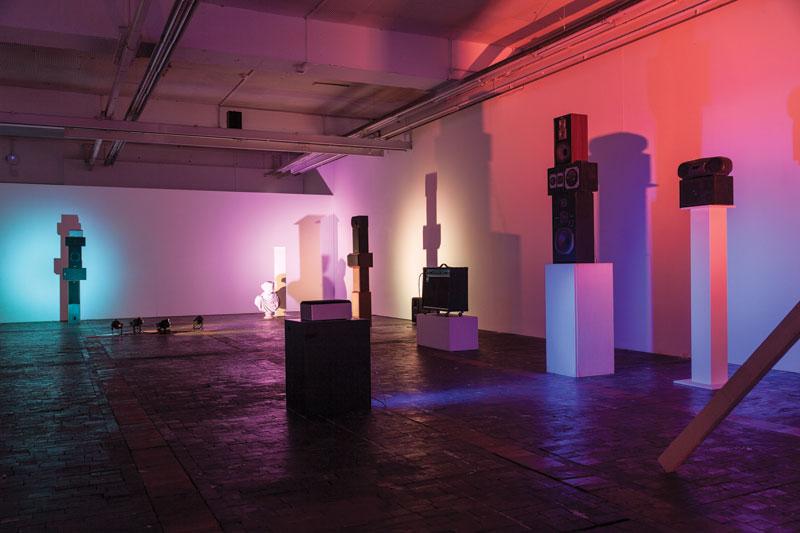 Brian Eno, The Ship, 2016, installation view, sound. Le Commun, Geneva. Photo: Nathalie Rebholz.
