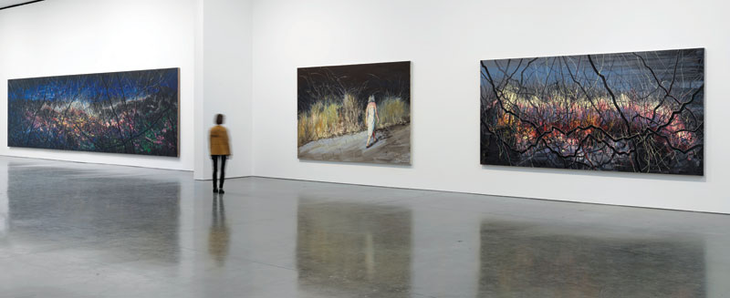 Installation view of  Zeng Fanzhi: Paintings, Drawings, and Two Sculptures. Image credit: Artwork © Zeng Fanzhi Studio. Photography by Rob McKeever. Courtesy Gagosian Gallery, New York.