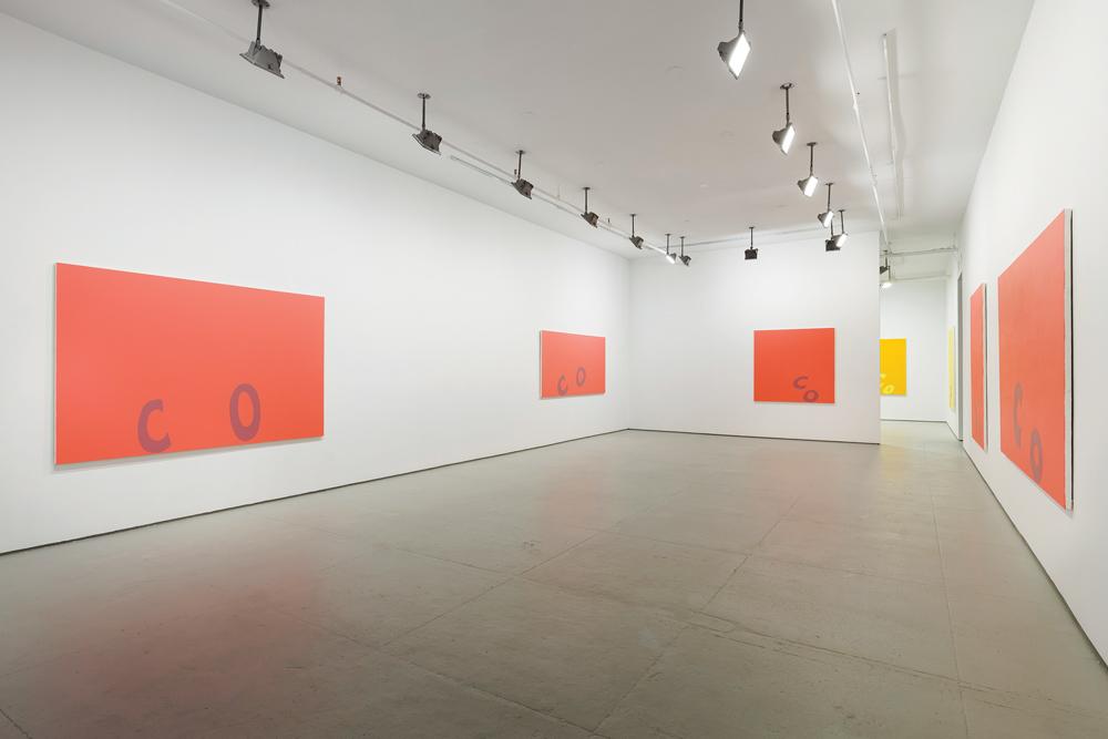 """Carl Ostendarp's """"Blanks"""" exhibition, Elizabeth Dee Gallery, 2014. Courtesy of Elizabeth Dee Gallery."""