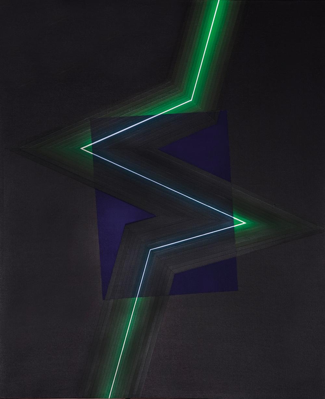 """Horacio García Rossi, Couleur lumière transparente, 2002, acrylic on board, 28.7"""" x 23.6."""""""