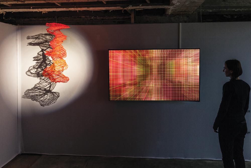 Miguel Chevalier, Méta-Cités filaire, 2016, virtual-reality artwork, video 60 min, unique artwork. Software: Claude Micheli. All images are courtesy of Lélia Mordoch Gallery, Paris and Miami.