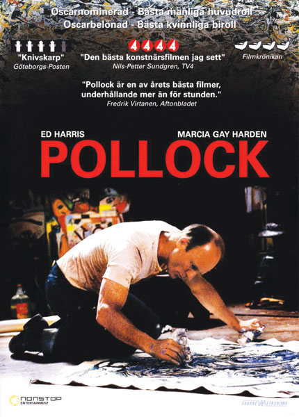 Poster for Pollock, 2000, a biographical film directed and staring by Ed Harris that tells the life story of the iconic Abstract Expressionist artist. Image courtesy of Matt Sussman.