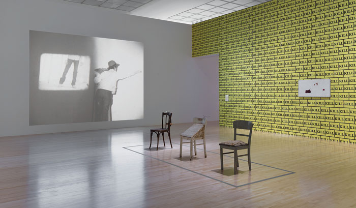 "Installation view of ""Sturtevant: Double Trouble,"" March 20–July 27, 2015 at MOCA Grand Avenue. Courtesy of The Museum of Contemporary Art, Los Angeles. Photo: Brian Forrest."
