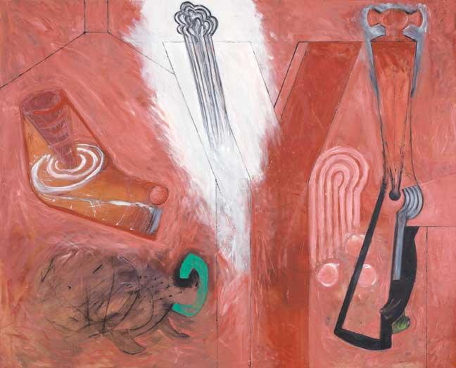 """Ramiro Llona, Cuestión de género, 2009, oil on canvas, 78 ¾"""" x 93 3/8."""" Courtesy of The Americas Collection."""