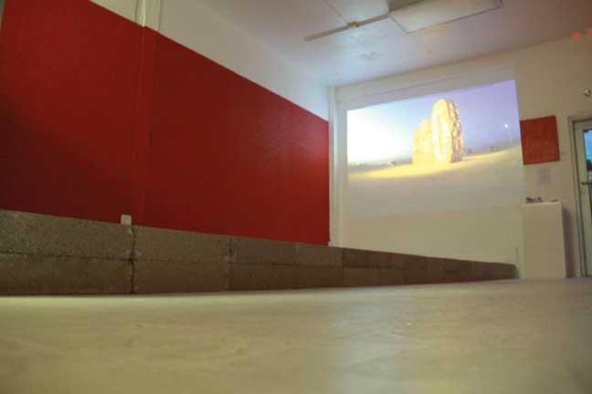 "Domingo De Lucia's exhibition ""Between Walls,"" at MIArt Space in Miami. Installation view."