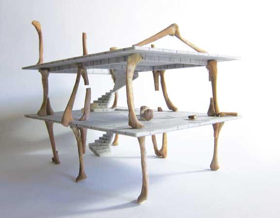 Andreas Angelidakis, Bone Domino, 2014, 3-D print.